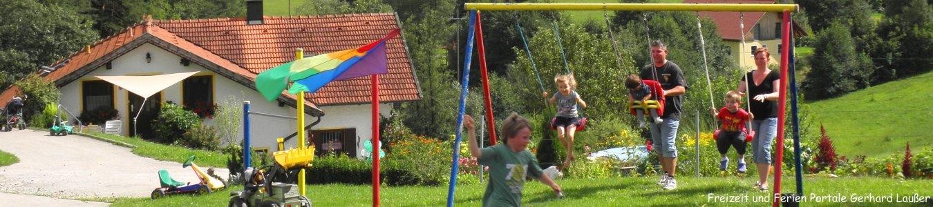 Bayerischer Wald Kinderurlaub Spielplatz